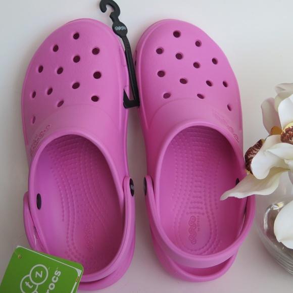 cfac5c35d46 crocs Shoes   Jibbitz By Presly Clog Party Pink Unisex   Poshmark